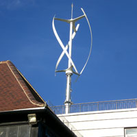 Quiet Revolution wind turbine, Kings College School