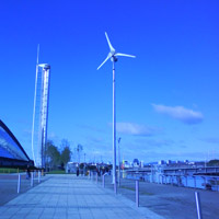Proven wind turbine, Glasgow Science Centre
