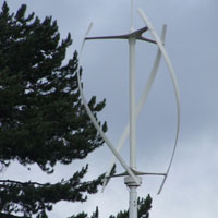 Quiet Revolution wind turbine, Edinburgh Botanic Gardens