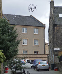 Wind turbine, Haymarket, Edinburgh